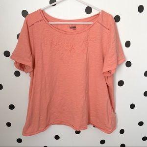 🌈5/$25🌈EUC Basic Editions pink blouse size XXL